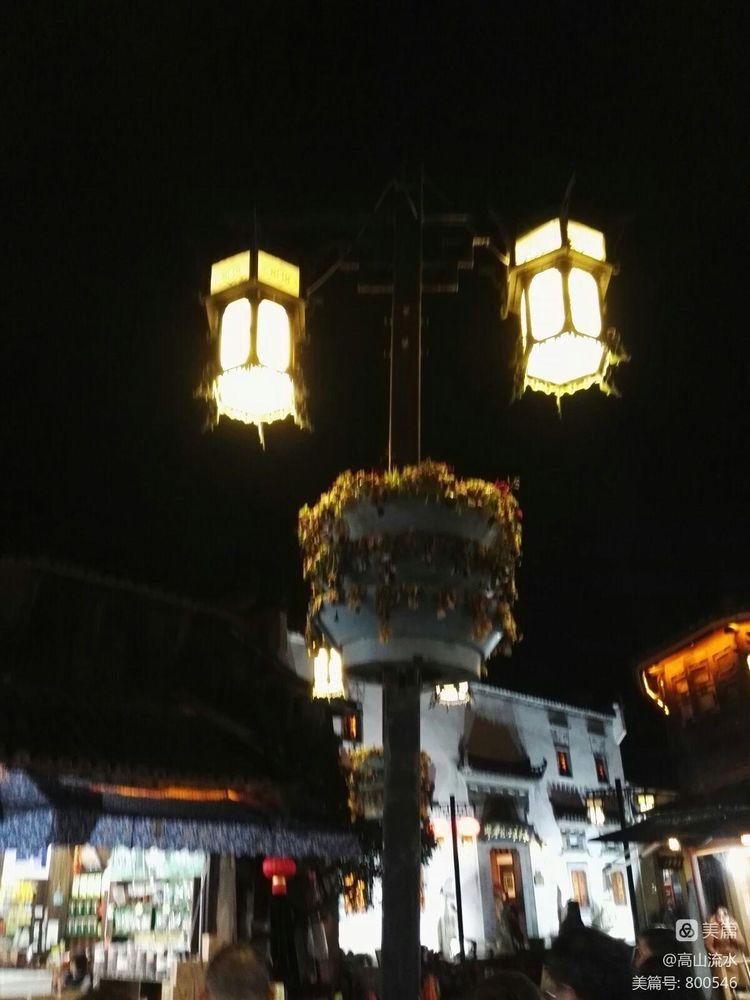 【原创】步行在夜色迷离的屯溪老街 - 秋香 - 方人雨