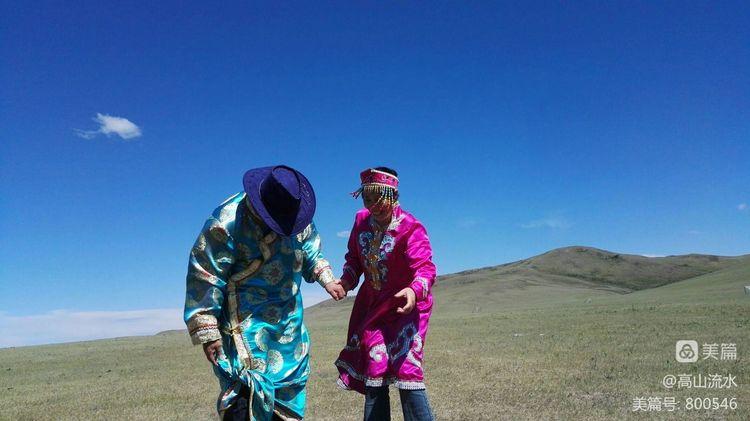 【原创】草原上来了外地的蒙古汉子和靓丽的妹 - 秋香 - 方人雨